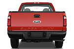 Straight rear view of a 2008 Ford f250 Regular Cab
