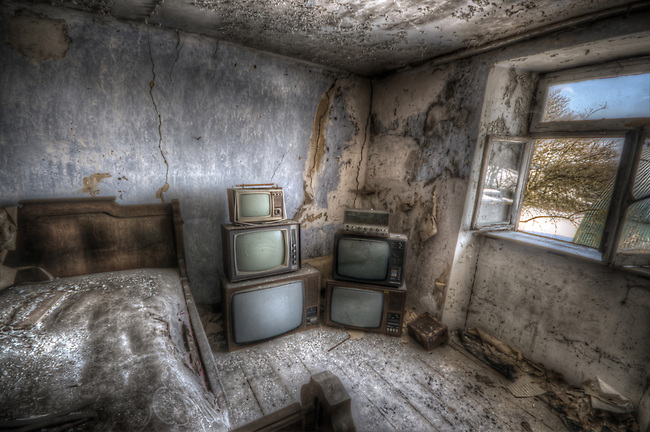 The house of the the TV repair man