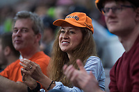 Bratislava, Slovenia, April 23, 2017,  FedCup: Slovakia-Netherlands,seccond rubber sunday,  Dutch supporters<br /> Photo: Tennisimages/Henk Koster