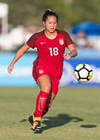 Bradenton, FL - Sunday, June 12, 2018: Sunshine Fontes during a U-17 Women's Championship Finals match between USA and Mexico at IMG Academy.  USA defeated Mexico 3-2 to win the championship.