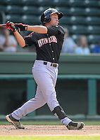 Infielder Lee Drew (11) of the Kannapolis Intimidators, Class A affiliate of the Chicago White Sox, in a game against the Greenville Drive on May 27, 2011, at Fluor Field at the West End in Greenville, S.C. Photo by Tom Priddy / Four Seam Images
