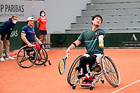9th October 2020, Roland Garros, Paris, France; French Open tennis, Roland Garr2020; Mens doubles final, Gustavo Fernandez Esp / Shingo Kunieda jpn