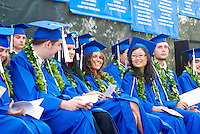 High school graduation from Academy of the Pacific, now a closed private school, in Honolulu, on the island of O'ahu.