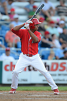 Williamsport Crosscutters outfielder Samuel Hiciano #7 during a game against the Auburn Doubledays on July 8, 2013 at Bowman Field in Williamsport, Pennsylvania.  Auburn defeated Williamsport 5-1.  (Mike Janes/Four Seam Images)