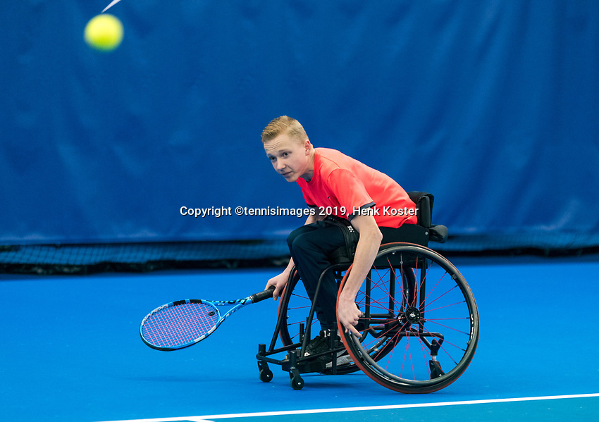 Amstelveen, Netherlands, 8  December, 2020, National Tennis Center, NTC, NKR, National  Indoor Wheelchair Tennis Championships, Men's single:  	<br /> Robin Groenewoud (NED)<br /> Photo: Henk Koster/tennisimages.com
