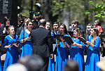 The Carson City High School Chamber Choir sings at the 21st annual Nevada State Law Enforcement Officers Memorial ceremony in Carson City, Nev., on Thursday, May 3, 2018. <br />Photo by Cathleen Allison/Nevada Momentum