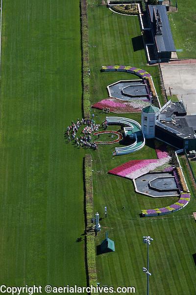 aerial photograph Churchill Downs Thoroughbred racetrack, Louisville, Kentucky