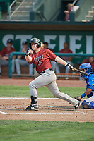 Nick Hutchins (30) of the Idaho Falls Chukars bats against the Ogden Raptors at Lindquist Field on July 29, 2018 in Ogden, Utah. The Raptors defeated the Chukars 20-19. (Stephen Smith/Four Seam Images)