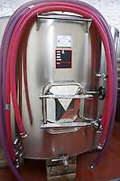 Domaine Mas Lumen in Gabian. Pezenas region. Languedoc. Pumping tubes. France. Europe.