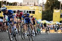 Julian Alaphillipe (FRA/Deceuninck Quick Step) riding the Champs-Elysées cobbles. <br /> <br /> Stage 21: Rambouillet to Paris (128km)<br /> 106th Tour de France 2019 (2.UWT)<br /> <br /> ©kramon