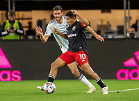 WASHINGTON, DC - MAY 13: Edison Flores #10 of D.C. United controls the ball during a game between Chicago Fire FC and D.C. United at Audi FIeld on May 13, 2021 in Washington, DC.
