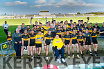 Dr. Crokes celebrate with Ian O'Connell after winning the Kerry County Intermediate Hurling Championship Final match between Dr Crokes and Tralee Parnell's at Austin Stack Park in Tralee