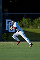Stephen Reid during the WWBA World Championship at the Roger Dean Complex on October 19, 2018 in Jupiter, Florida.  Stephen Reid is an outfielder from Berkeley Heights, New Jersey who attends Governor Livingston High School and is committed to Georgia Tech.  (Mike Janes/Four Seam Images)