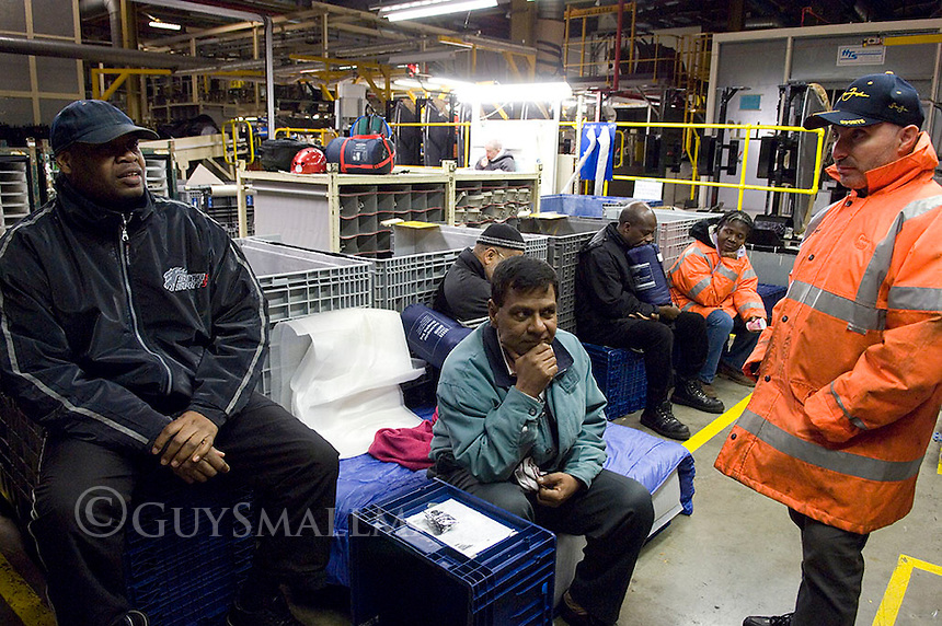 Workers at the Visteon plant in Enfield, North London occupy thier factory after 550 redundencies were announded at the plants in Basildon, Enfield and Belfast.