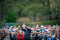 PEBBLE BEACH, CA--Phil Mickelson competes in the final round of the AT&T Pebble Beach National Pro-Am Golf Championship at Pebble Beach Golf Links in Pebble Beach, CA on Sunday, February 12, 2012. Mickelson won the tournament with a total score of 269.