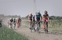 Wout Van Aert (BEL/Vérandas Willems-Crelan) and others over the cobbles<br /> <br /> 92nd Schaal Sels 2017 <br /> 1 Day Race: Merksem > Merksem (188km)
