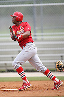 April 14, 2009:  Edgar Lara of the St. Louis Cardinals extended spring training team during a game at Roger Dean Stadium Training Complex in Jupiter, FL.  Photo by:  Mike Janes/Four Seam Images