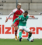 17.10.2020, Schwarzwald Stadion, Freiburg, GER, 1.FBL, SC Freiburg vs SV Werder Bremen<br /> <br /> im Bild / picture shows<br /> Vincenzo Grifo (Freiburg), Jean Manuel Mbom (Bremen)<br /> <br /> Foto © nordphoto / Bratic<br /> <br /> DFL REGULATIONS PROHIBIT ANY USE OF PHOTOGRAPHS AS IMAGE SEQUENCES AND/OR QUASI-VIDEO.