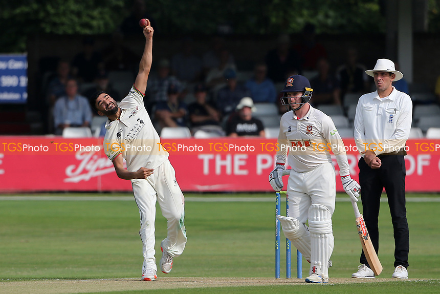 Zafar Gohar in bowling action for Gloucestershire during Essex CCC vs Gloucestershire CCC, LV Insurance County Championship Division 2 Cricket at The Cloudfm County Ground on 6th September 2021
