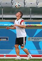 Bastian Schweinsteiger of Germany during training ahead of tomorrow's semi final vs Brazil