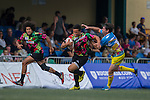 Tradition YCAC (in flowered shirts) defeat XBlades Rowzy Pegasi 63 to 0 during GFI HKFC Rugby Tens 2016 on 06 April 2016 at Hong Kong Football Club in Hong Kong, China. Photo by Juan Manuel Serrano / Power Sport Images