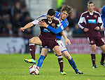 Hearts v St Johnstone....02.11.13     SPFL<br /> David Smith and Murray Davidson<br /> Picture by Graeme Hart.<br /> Copyright Perthshire Picture Agency<br /> Tel: 01738 623350  Mobile: 07990 594431