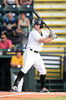 Bradenton Marauders third baseman D.J. Crumlich (3) at bat during a game against the Jupiter Hammerheads on June 25, 2014 at McKechnie Field in Bradenton, Florida.  Bradenton defeated Jupiter 11-0.  (Mike Janes/Four Seam Images)