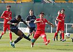 11.01.2020 Rangers v Lokomotiv Tashkent, Sevens Stadium, Dubai:<br /> Sheyi Ojo scores goal no 2 for Rangers