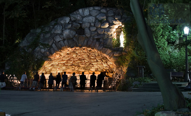 The Grotto on a football Friday night...Photo by Matt Cashore/University of Notre Dame