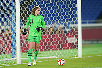 YOKOHAMA, JAPAN - JULY 30: Goalkeeper Alyssa Naeher #1 of the United States in action during a game between Netherlands and USWNT at International Stadium Yokohama on July 30, 2021 in Yokohama, Japan.