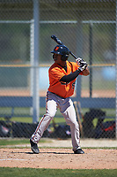 Baltimore Orioles Markel Jones (95) at bat during a minor league Spring Training game against the Minnesota Twins on March 17, 2017 at the Buck O'Neil Baseball Complex in Sarasota, Florida.  (Mike Janes/Four Seam Images)