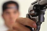 Hand Gun and Shot Gun With Ammo Images