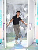 """SANTA MONICA, CA - JUNE 11: Michael Cimino poses for a photo at a special photo-activation in honor of Pride Month and the Season 2 premiere of the Hulu Original Series """"Love, Victor,"""" on June 11, 2021 in Santa Monica, California. (Photo by Frank Micelotta/Hulu/PictureGroup)"""