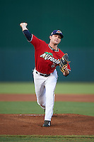 Fort Myers Miracle pitcher Kohl Stewart (2) delivers a pitch during a game against the Daytona Tortugas on June 17, 2015 at Hammond Stadium in Fort Myers, Florida.  Fort Myers defeated Daytona 9-5.  (Mike Janes/Four Seam Images)