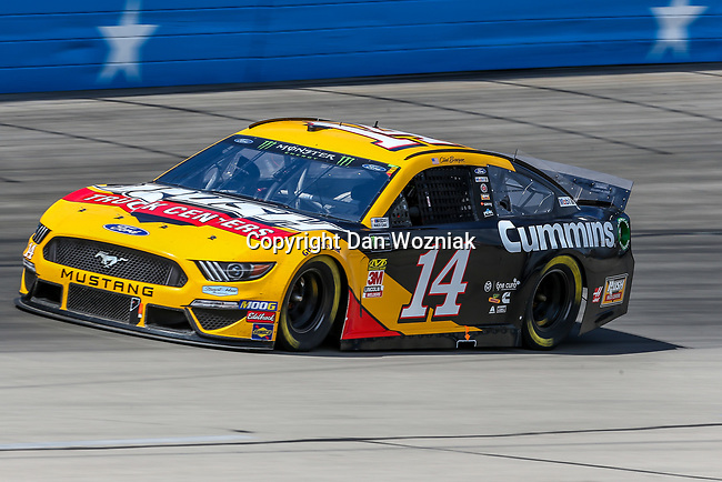 Monster Energy NASCAR Cup Series driver Clint Bowyer (14) in action during the Monster Energy NASCAR Cup Series, O'Reilly Auto Parts 500, race at the Texas Motor Speedway in Fort Worth,Texas.