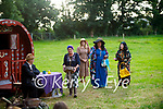 """The members of the Memory Lane Theatre Lixnaw with their production """"Roadside"""" an open air play in Lixnaw on Tuesday evening. L to r: Chris Fitzgerald (Sam Muldoon), Siobhan Keane (Angela Muldoon), Emily Keane (Maid of the Manor), Roisin Power (Lady Elenor Flimsy) and Maria Conway (Isabelle Flimsy)"""