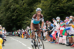 Mikael Cherel (FRA) AG2R la Mondiale climbs Col de Marie Blanque during Stage 9 of Tour de France 2020, running 153km from Pau to Laruns, France. 6th September 2020. <br /> Picture: Colin Flockton   Cyclefile<br /> All photos usage must carry mandatory copyright credit (© Cyclefile   Colin Flockton)