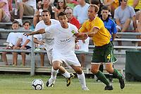 Derek Gaudet-Portland Timbers, Tim Velten-AC St Louis #4...AC St Louis defeated Portland Timbers 3-0 at Anheuser-Busch Soccer Park, Fenton, Mssouri.