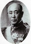 """Undated - Masaru Inoue (1843- 1910) is the first director of railways in Japan. He played a leading role in Japan's railway planning and construction, including the construciton of the Nakasendo Railway, selection of the alternative route (Tokaido), and the proposals for future mainline railway networks. Because of these works, he is called """"father of the Japanese railways"""". (Photo by Kingendai Photo Library/AFLO)"""