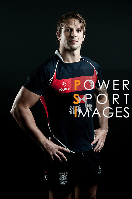 Ross Armour poses during the Hong Kong 7's Squads Portraits on 5 March 2012 at the King's Park Sport Ground in Hong Kong. Photo by Andy Jones / The Power of Sport Images for HKRFU