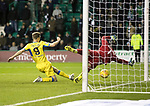 Hibs v St Johnstone…18.11.17…  Easter Road…  SPFL<br />Steven MacLean scores the winner<br />Picture by Graeme Hart. <br />Copyright Perthshire Picture Agency<br />Tel: 01738 623350  Mobile: 07990 594431
