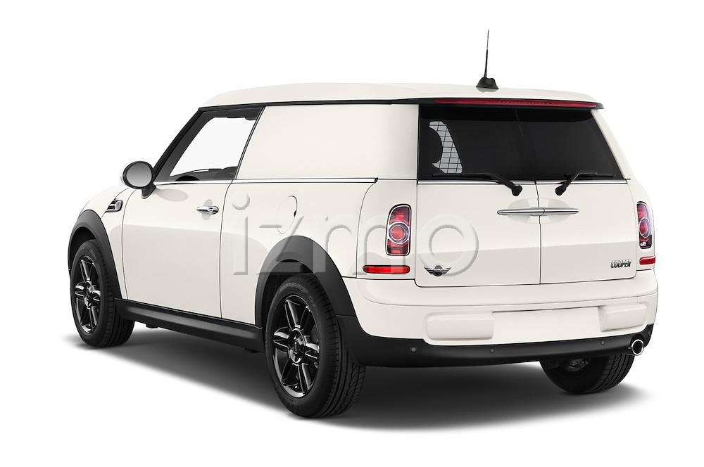Car pictures of rear three quarter view of a 2014 MINI MINI COOPER CLUBVAN 5 Door Wagon 2WD Angular Rear