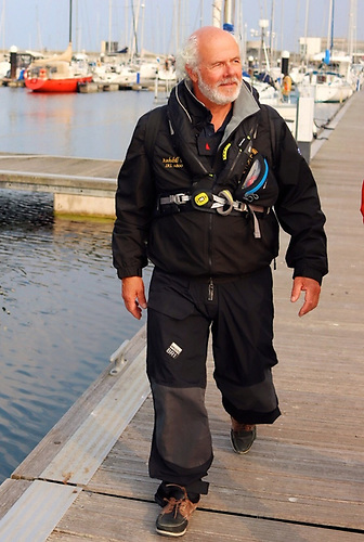 Ian O'Meara spotted in battle kit as he heads down Dun Laoghaire marina