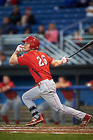 Williamsport Crosscutters right fielder Luke Maglich (26) at bat during a game against the Batavia Muckdogs on September 2, 2016 at Dwyer Stadium in Batavia, New York.  Williamsport defeated Batavia 9-1. (Mike Janes/Four Seam Images)