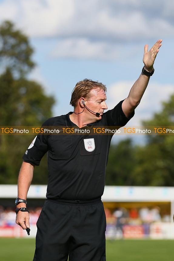 Referee Trevor Kettle during Sutton United vs Stevenage, Sky Bet EFL League 2 Football at the VBS Community Stadium on 11th September 2021
