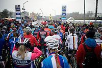 start Elite Women's Race<br /> <br /> 2015 UCI World Championships Cyclocross <br /> Tabor, Czech Republic