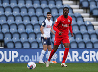 31st October 2020; Deepdale Stadium, Preston, Lancashire, England; English Football League Championship Football, Preston North End versus Birmingham City; Jonathan Leko of Birmingham City looks on