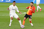 Real Madrid's Carlos Henrique Casemiro (l) and FC Shakhtar Donetsk's Maycon during UEFA Champions League match. October 20,2020.(ALTERPHOTOS/Acero)