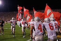 The Ohio State football team takes the field before the Buckeyes defeated the Purdue Boilermakers 23-7 on October 06, 2007 at Ross-Ade Stadium, West Lafayette, Indiana.