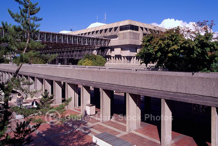 Simon Fraser University (SFU) Campus Building on Burnaby Mountain, Burnaby, BC, British Columbia, Canada - Arthur Erickson Architect